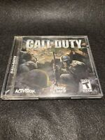 Call of Duty CD-ROM (PC, 2003) Activision Original War Shooter Game