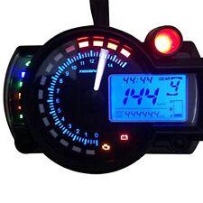 15000rpm Universal Motorcycle LCD Digital Speedometer Tachometer Odometer Gauge