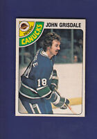 John Grisdale 1978-79 O-PEE-CHEE OPC Hockey #318 (NM+) Vancouver Canucks