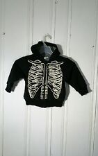 CRAZY 8 KIDS FULL ZIP JACKET WITH HOOD SIZE XS 4 BLACK THERMAL LINED
