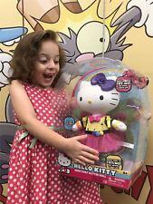 Big HELLO KITTY Neon Fairy Glitter Doll w/ Light-up Bow & Wings Glow New RARE