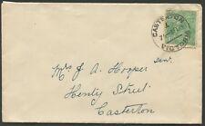 KGV - 1918-23 Single Wmk: Feb.1924 usage of 1½d Green, single franking