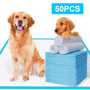 50PCS LARGE PUPPY TRAINING PADS 60X45CM TOILET PEE WEE MATS PET DOG CAT Blue