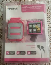 POLAROID 4GB Touch Mp3 Player Music video Player PMp125  Pink - New In Packaging