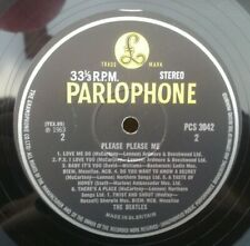 "BEATLES "" PLEASE PLEASE ME ""SUPERB UK RARE FINAL 60'S YELLOW BLACK LABEL STEREO"