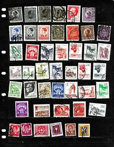 YUGOSLAVIA : NICE 'VINTAGE' STAMP COLLECTION DISPLAYED ON 3 SHEETS. SEE SCANS