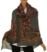 7a479bacc2aed NEW ETRO MILANO SQUARE WOOL SILK PAISLEY SCARF WRAP SHAWL XLARGE OVERSIZED