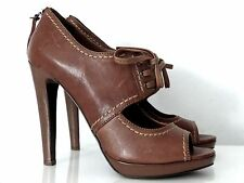 MIU MIU BY PRADA PUMPS DUNKELBRAUN HIGH HEELS DARK BROWN GR:40,5 NEU/NEW !!!