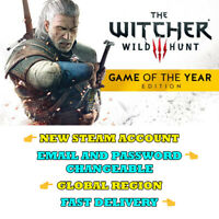 The Witcher 3 Game of the Year Edition - New Steam Account - Global Region