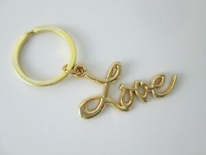 Sex and the City LOVE Key Ring - Gold  Plated Metal  - High Quality