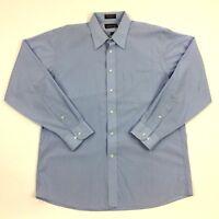 ARROW - 16.5 34/35 Blue Long Sleeve WRINKLE FREE Oxford Dress Shirt Mens
