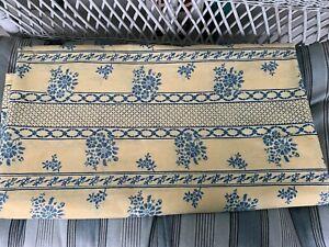"""Brunschwig & Fils Les Bluets Vintage 90's Cotton Fabric 9+ Yard Remnant X 54"""""""