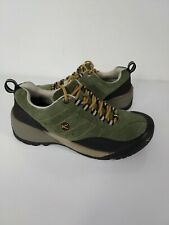 KEEN Mens Green Suede Leather Low Top Hiking Shoes Trail Size 9.5 EUC