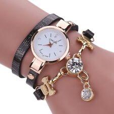 Reloj de Pulsera Mujer Garude Correa cuero y diamante. Elegante