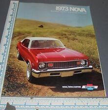 1973 Chevrolet Nova Brochure Coupe/Sedan/SS/ Hatchback+