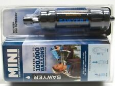 SAWYER Black MINI WATER FILTER System for Hiking Camping w/ 16 oz Pouch! SP105