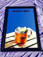 "Absolut Mule Vodka  Beer Bar Whiskey Mirror ""New"""