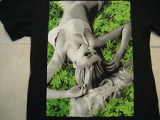 Sexy Cute Girl Drugs Gangster Black Cotton T Shirt Size M