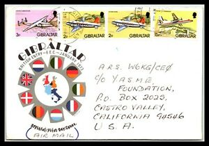 GP GOLDPATH: GIBRALTAR COVER 1984 AIR MAIL FIRST DAY COVER _CV676_P13