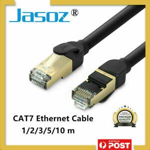 JASOZ Network Lan CAT7 RJ45 Cord Ethernet Flat Shielded Cable Patch Lead 1-10M