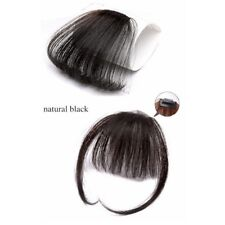 100% Real Human Hair Thin Bang clip-in Extension Natural Fringe Front Hairpiece