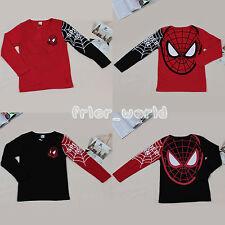 Infantil Bebé Niño Superhéroe Spiderman Camisas Tops Camiseta Manga Larga Suéter