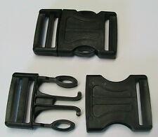 Steckschnalle-Klickverschluss 2 Stück für 40mm Gurtbreite Kunststoff Schwarz