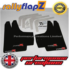 Mudflaps RallyflapZ to fit HONDA CIVIC TYPE R (FN2) New Gen 2007 onwards BLACK