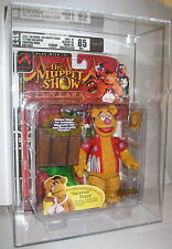 The Muppet Show Vacation Fozzie Red Shirt Palisades Series 2 Figure AFA 8.5