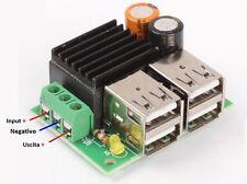 Convertitore Converter dc-dc in 12V out 5V 4xUSB carica cellulari Auto,Solare