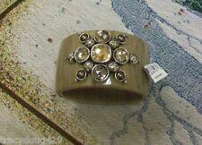 NWT Brighton Hinged Bangle Bracelet Bold look with large Swarovski Crystals