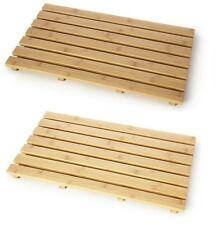 Natural Wood Bamboo Wooden Duck Board Rectangular Bathroom Bath Shower Mat New