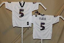 Joe Flacco  BALTIMORE RAVENS   Reebok  JERSEY   Youth XL    NwT  white   ns