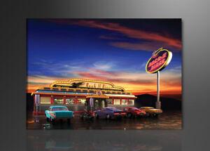 Visario Bild auf Leinwand Markenware USA Retro 80cm XXL 3 4148>