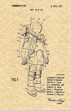 Patent Print - Astronaut Space Suit 1973  - NASA Apollo. Ready To Be Framed!