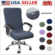 Stretch Swivel Computer Chair Covers Home Office Slipcovers Protective Cover US