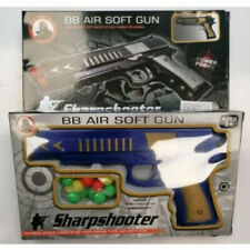 Sharpshooter Bb Air Soft Gun Toy With Round Bullets - Blue