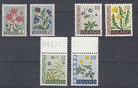Pflanzen - Blumen   Island  6 Werte  **  (mnh)
