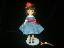 "No Doll, 1957 Betsy McCall 8"" Doll Blue Pin Dot School Girl Outfit with Hat, B2"