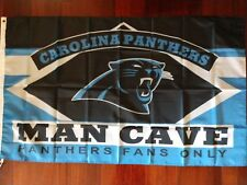 Carolina Panthers Man Cave 3x5 Flag. US seller. Free shipping within the US