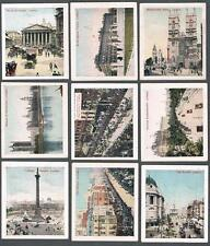 1912 ITC C68 Views of The World Plain Back Tobacco Cards Near Set of 43