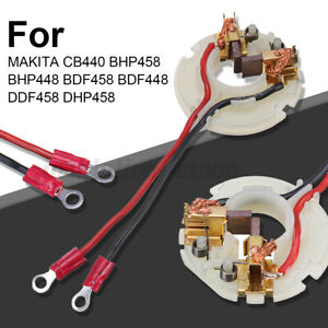 Carbon Brush Holder + 2 Carbon Brushes For MAKITA CB440 BHP458 BHP448 BDF458
