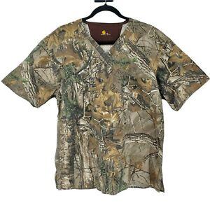 Carhartt Camo Scrub Top Realtree Women's Size Medium Shirt Camouflage