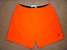 Ralph Lauren Men's Neon Orange Shorts/Swimmers New Size L