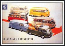 Modern Postcard: Vintage Volkswagen-Transporters (Boomerang, Amsterdam)
