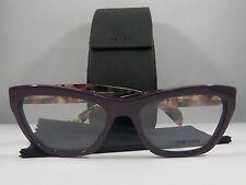 Prada VPR 14Q ROM-1O1 Purple on Havana New Authentic Eyeglasses 53mm w/ Case