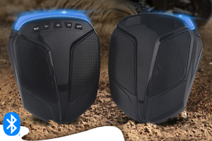 ATV UTV Golf Cart Motorcycle Bluetooth Speakers Audio System Waterproof Black
