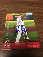 Springfield Cardinals John Gast Autograph Signed Auto Card