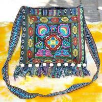 Thai Indian Hmong Boho Hobo Ethnic Embroidered Shoulder Messenger Sling Bag