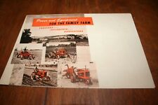 Allis Chalmers Power & Equipment Brochure Mailer WD B CA G Tractors 1951 NEAT!